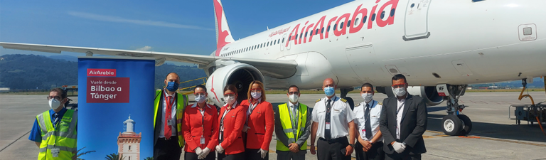 Bilbao Airport launches the route to Tangier with Air Arabia